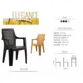 4 Adet Elegan Sandalye (Beyaz Renk)