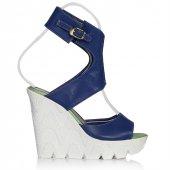 Uk Polo Club P64709 Kadın Topuklu Sandalet Saks Mavi