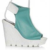 Uk Polo Club P64707 Kadın Topuklu Sandalet Yeşil