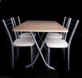 Ahşapı Katlanır Masa Sandalye Takımı