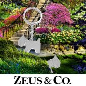 Zeus&co. Taşlı Köpek Anahtarlık Hediye Kesesi İle Birlikte
