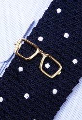 Gözlük Gold Kravat İğnesi Kıy17