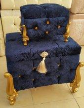 Liliana Çeyiz Sandığı Makyaj Kutusu Seti Taşlı Kadife Lüks Nişan