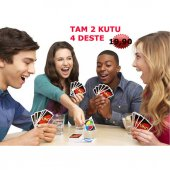 Lüks Uno Oyun Kartı Tam 2 Paket (4 Deste)