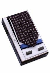 özel Hediye Seti Siyah Kravat Mendil Kol Düğmesi Os120