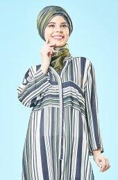 Bayan Tunik Dijital Baskılı Krep Kumaş,çıtçıtlı