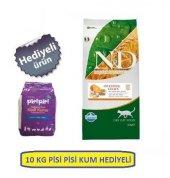 Nd Az Tahıllı Tavuklu Kedi Maması 10 Kg + 10 Kg Pisipisi Kum