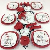 Keramika Peri Masalı Aşk 27 Parça 6 Kişilik Kahvaltı Takımı