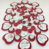 Keramika 12 Kişilik 98 Parça Kalp Kahvaltı Takımı