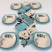 Keramika Retro Turkuaz 26 Parça Kahvaltı Takımı