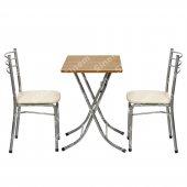 Sinem Muftak Balkon Masa Sandalye Takımı 2li Set 50x80ant