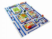 Ivi Çocuk Odası Oyun Halısı Trafik 134x180 Mavi...