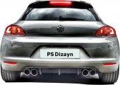 Volkswagen Scirocco 2009 2014 Makyajsız Ps Arka Tampon Eki Di