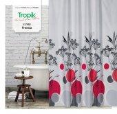 Zethome Tropik Banyo Duş Perdesi 7982 Çift Kanat 2x120x200