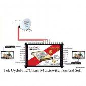 Tek Uydulu 12çıkışlı Multiswitch Santral Seti