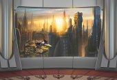 8 483 Komar Star Wars Coruscant View Çocuk Odası Duvar Kağıdı