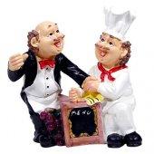 Aşçı Garson Menülü Biblo 25 Cm