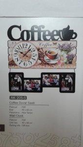 Time Gold Coffee Dekoratif Duvar Saati Mdf 40*60 Cm