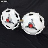 22.5 İnç Star Model Plastik Jant Kapağı Ve Orta Boy Kırmızı Fırfır (2 Bombeli 8 Düz)