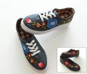 Vans Nakış İşlemeli Desenli Günlük Rahat Bayan Ayakkabı