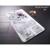 Confetti Rose Basket Kaymaz Banyo Halısı Paspası 8...