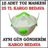 Toz Maskesi,ventilli Toz Maskesi 10 Adet