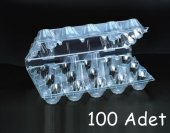 Plastik 15 Li Yumurta Viyolü (100 Adet) Ankaraviyol Viyolpazarı