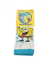 Spongebob Lisanslı Çoçuk Çorabı 4 5 Yaş Beyaz