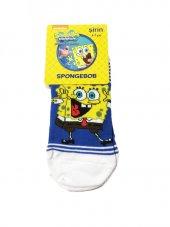 Spongebob Lisanslı Çoçuk Çorabı 6 7 Yaş Beyaz
