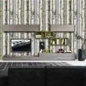 Ağaç Bambu Desenli Duvar Kağıdı Zdk9270