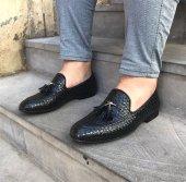 Hasır Siyah Renk Örgülü Casual Ayakkabı