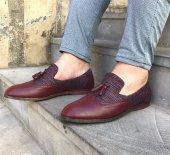 Bordo Keten Casual Ayakkabı