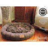 Wowpaw Donut New Kedi Köpek Yatağı 80x60x15 Kahve Mavi