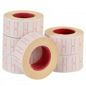 6 Lı Paket Tanex Motex Çizgili Beyaz 12 Mm X 21 Mm Fiyat Etiketi 4652