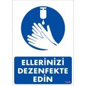 Pvc İş Güvenliği Levhası Ellerinizi Dezenfekte Edin