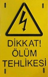 Dikkat Ölüm Tehlikesi Alüminyum Kabartmalı 14x20cm...