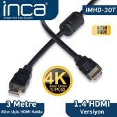 ınca Hdmı 3metre Imhd 30t Hdmı Hdmı 1.4v Kablo 4k Ultra 3d Altın Uçlu