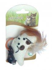 Catia İpli Peluş Kedi Oyuncağı 8,5 Cm