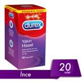 Durex Yakın Hisset (İnce Prezervatif) 20li Avantaj Paketi