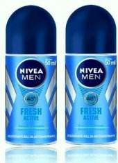 Nivea Fresh Active Roll On 50ml Erkek Roll On 2 Ad.