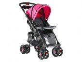 Babyhope Bh609 01 Polo Çift Yönlü Bebek Arabası Pembe Siyah