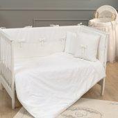 Funna Baby 5301 Premium Baby Uyku Seti 8 Parça 80x140 Cm Beyaz