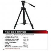 Pdx Pro Plus 501 Hidrolik Kafa Profesyonel Video Tripod