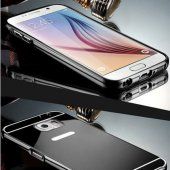 Gpack Samsung Galaxy Note 5 Kılıf Aynalı Metal Bumper + Kırılmaz