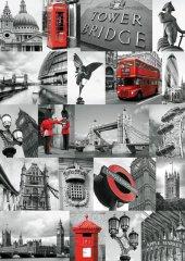Ravensburger 1000 Parçalık Puzzle Londra Siyah Beyaz Kırmızı