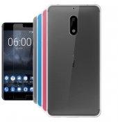 Nokia 6 İnce Silikon Kılıf + Nano Kırılmaz Cam