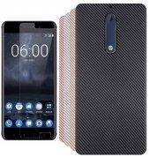 Nokia 5 Armor Carbon Silikon Kılıf + Kırılmaz Cam