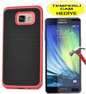 Samsung A3 Kılıf İnfinity Motomo Kırmızı Silikon Sert