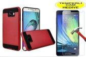 Samsung Galaxy A5 2016 Kılıf Kırmızı Tam Koruma Kırılmaz Cam