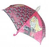Barbie Lisanslı Pembe Çocuk Şemsiyesi 88221 (Baston Tip)